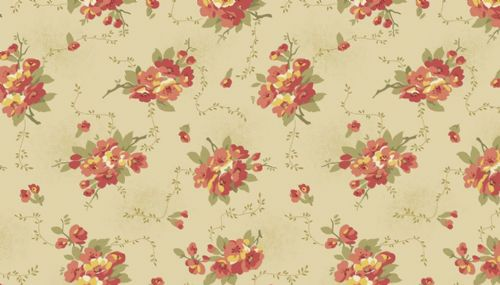 Edyta Sitar Bed Of Roses Collection Dahlia Cream